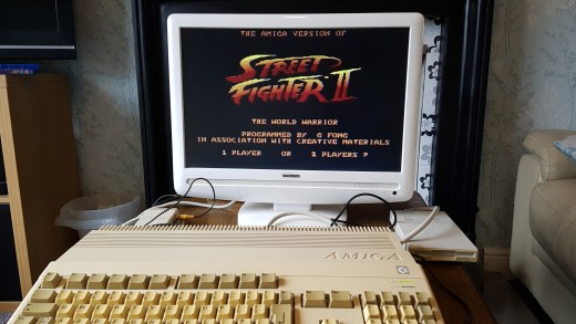 Amiga 500 con el Street Fighter II