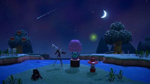 Noche de estrellas fugaces