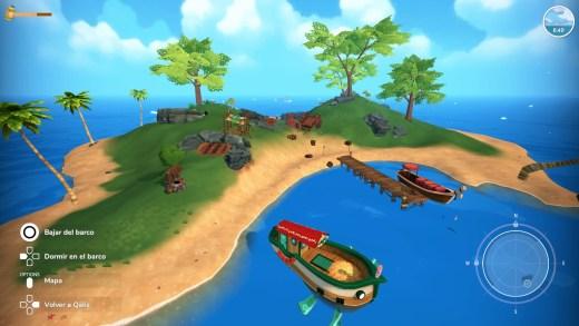 Captura del videojuego de Summer in Mara del estudio español Chibig