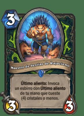 HearthStone Forjados En Los Baldios Maestro De Bestias De Rajacieno