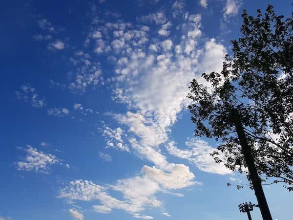 飯田運動公園の空模様