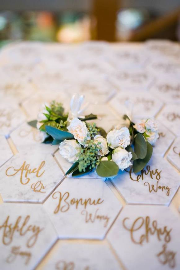 Hand Written Coaster Wedding Favors