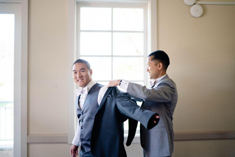 bestman helping groom