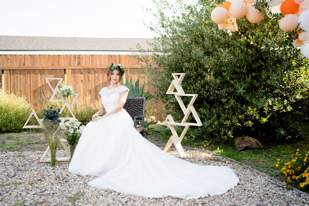 Garden wedding bridal