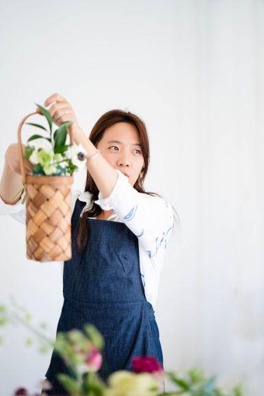 flower basket workshop