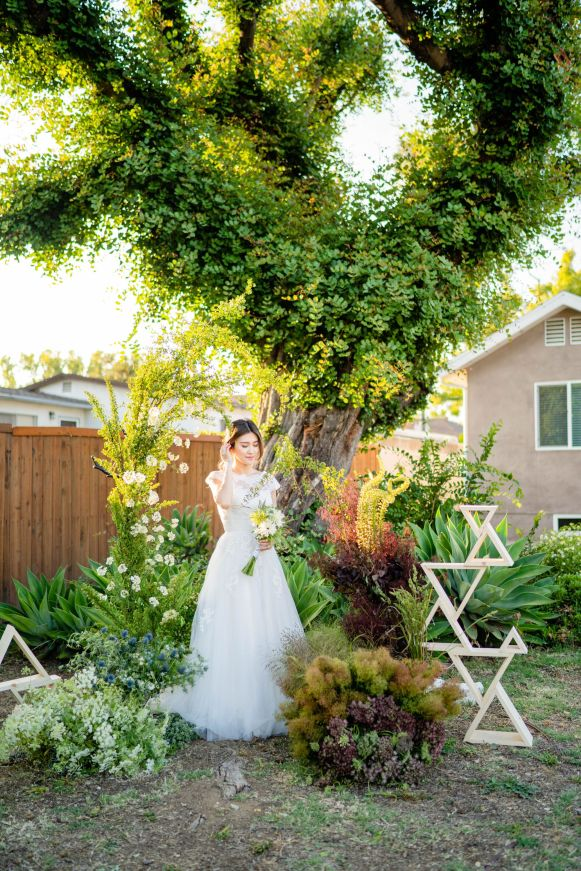 garden wedding flower arch