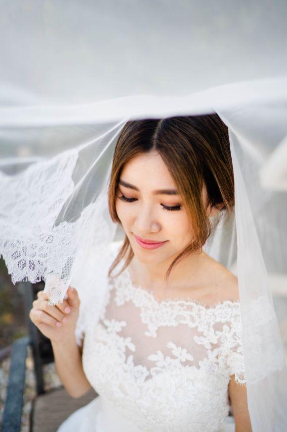 wedding veil pasadena