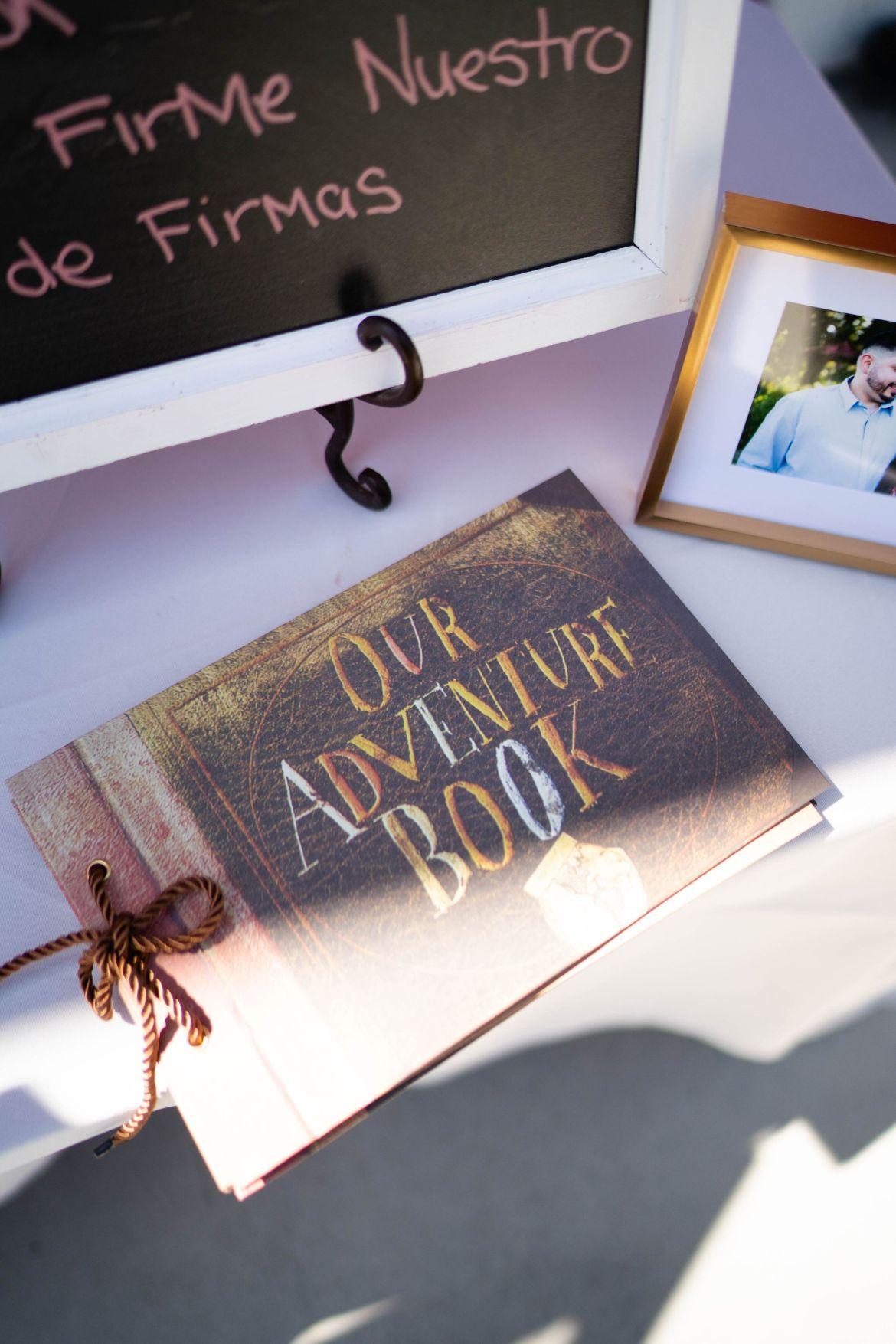 adventure book wedding