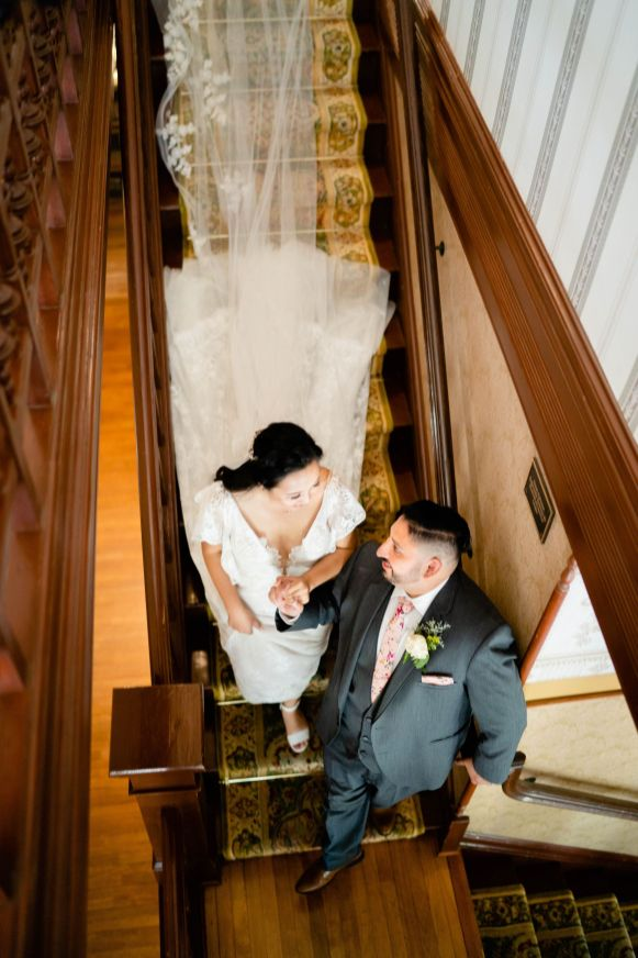wedding staircase photo