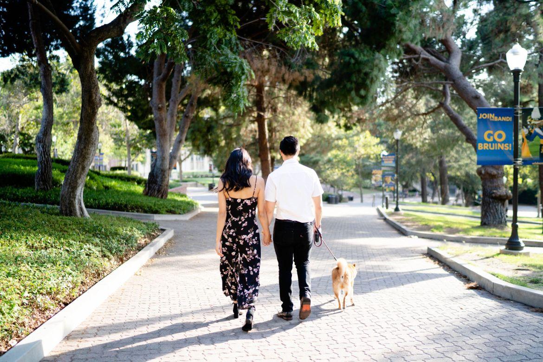 ucla alumni couple photoshoot