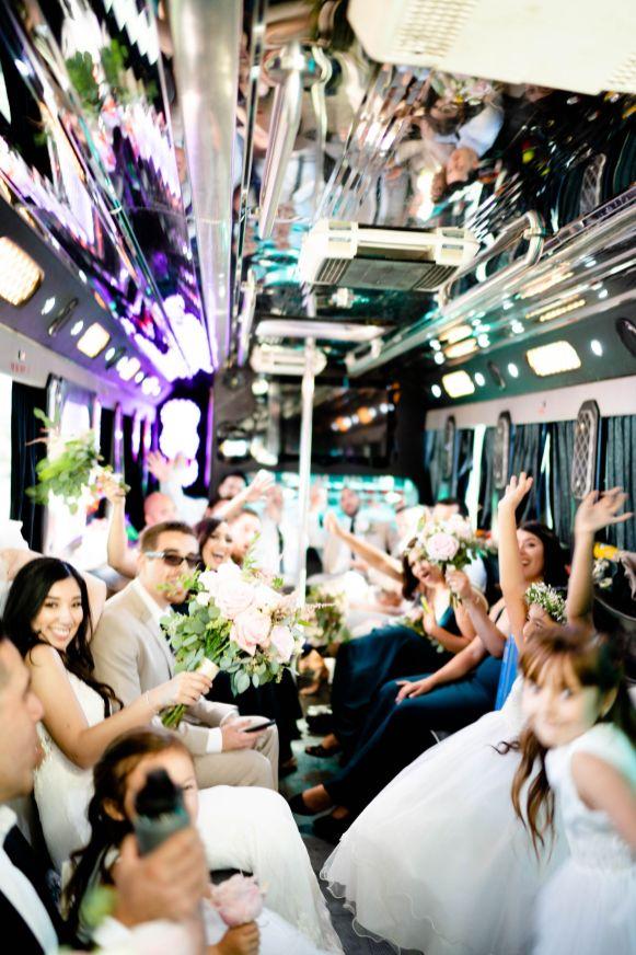 huntington beach party bus wedding