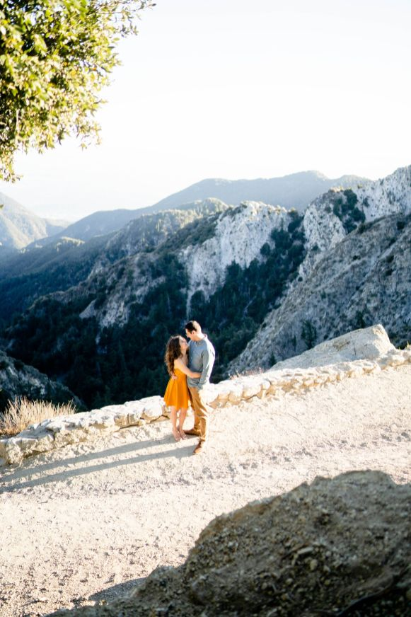 forest engagement los angeles wedding photographer