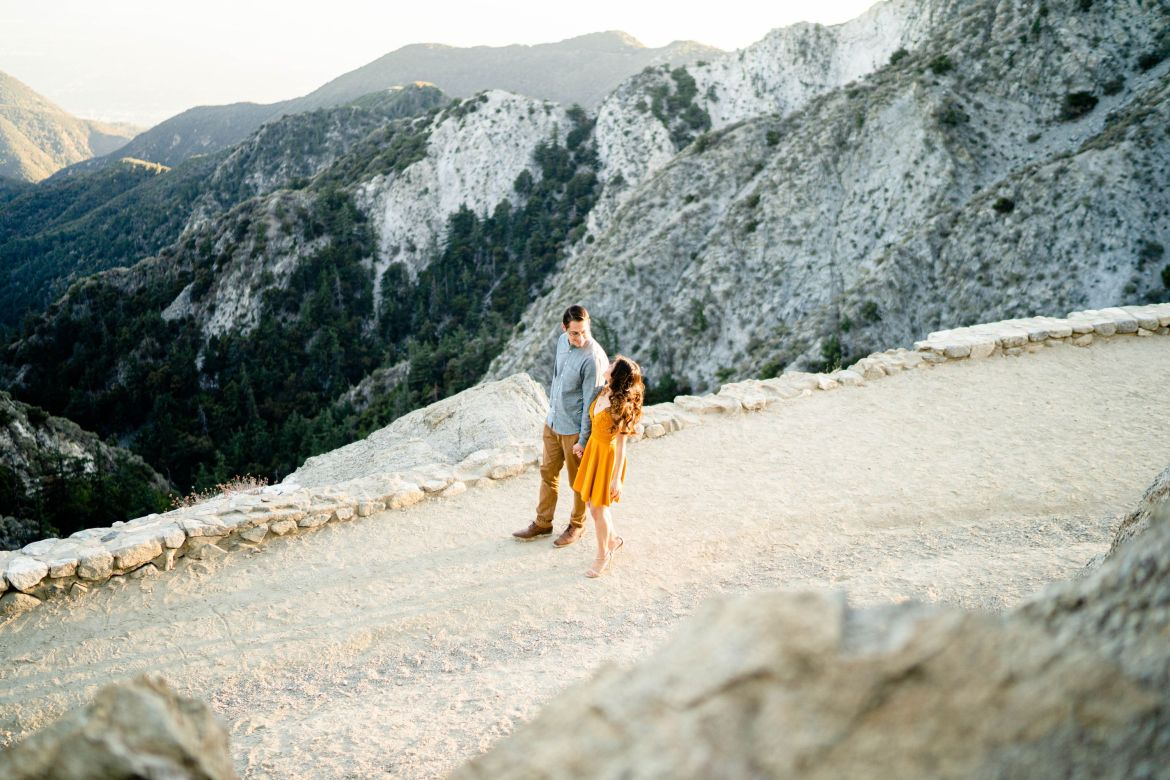 LA mountain engagement photographer