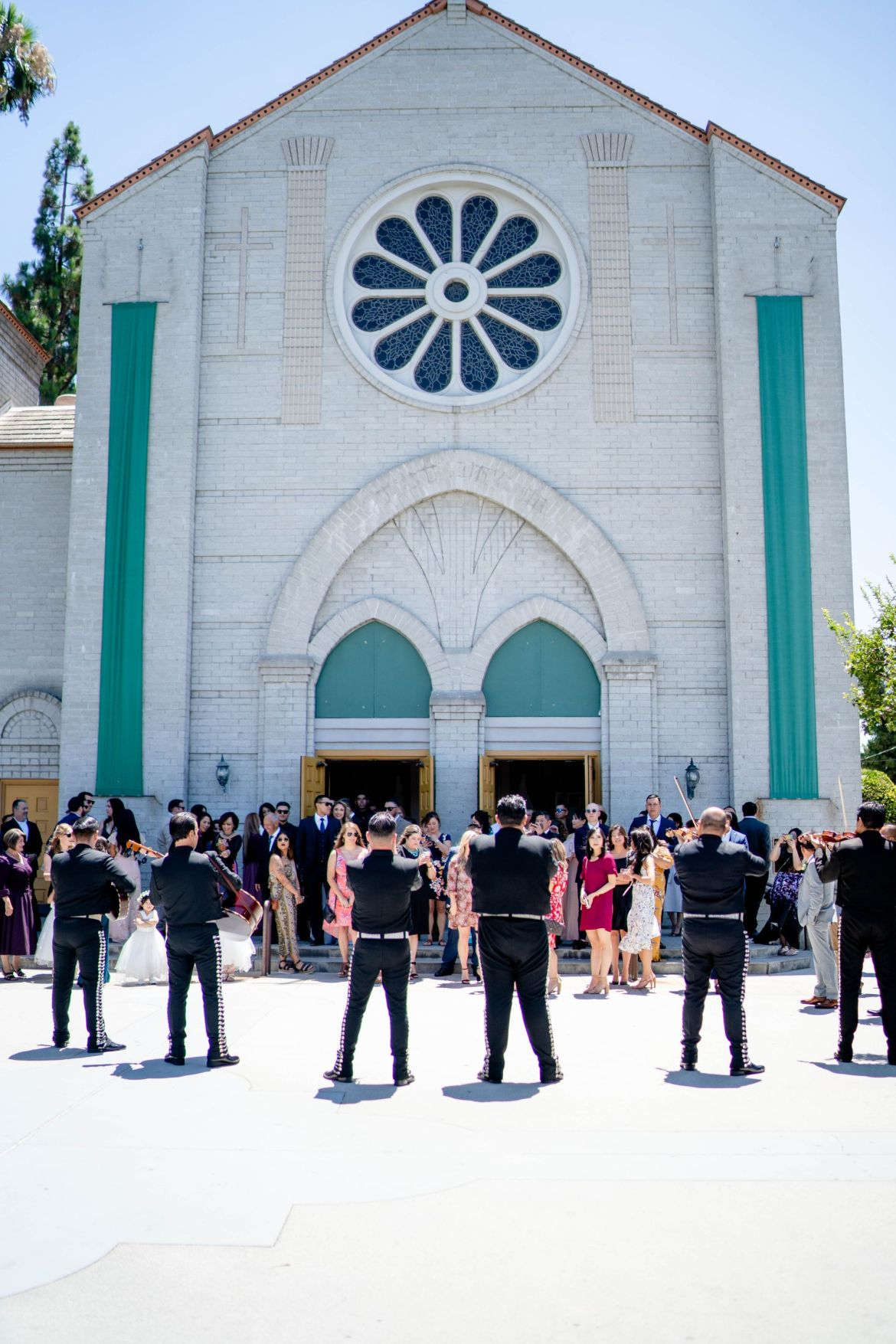 our lady of perpetual help church wedding photo
