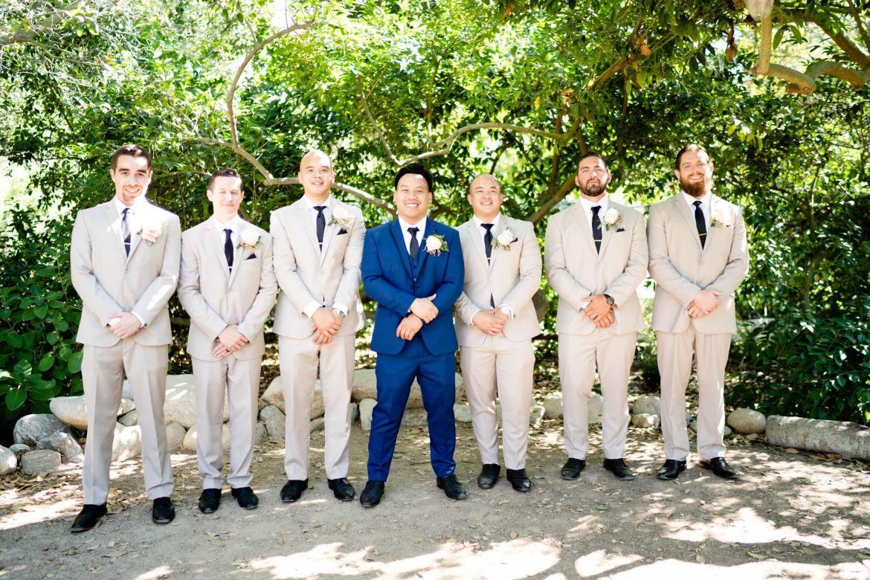 tan suit groom