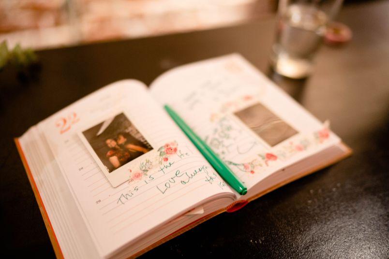 restaurant wedding photo book