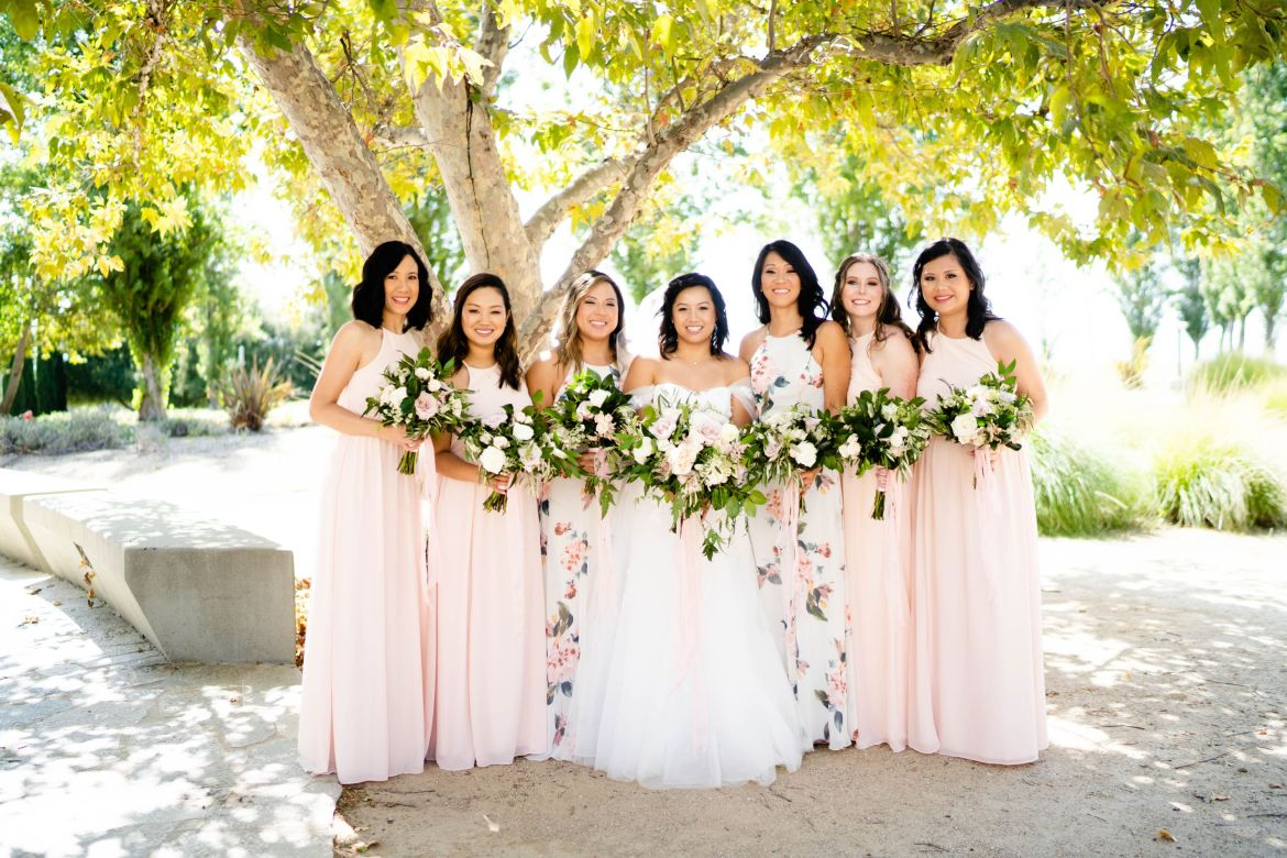 diamond bar wedding bridal party