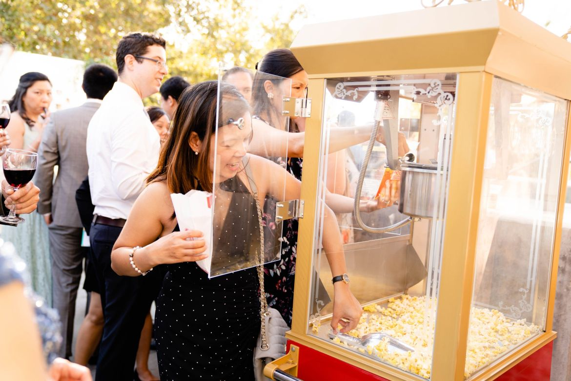 popcorn machine diamond bar wedding