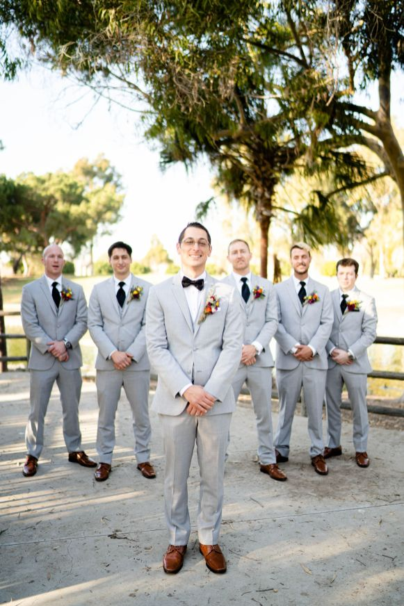 mile square park wedding party groomsmen