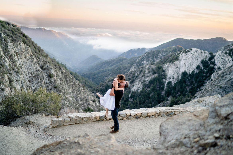 angeles national forest wedding ballerina