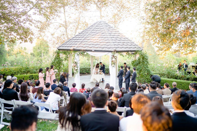 outdoor southern california wedding