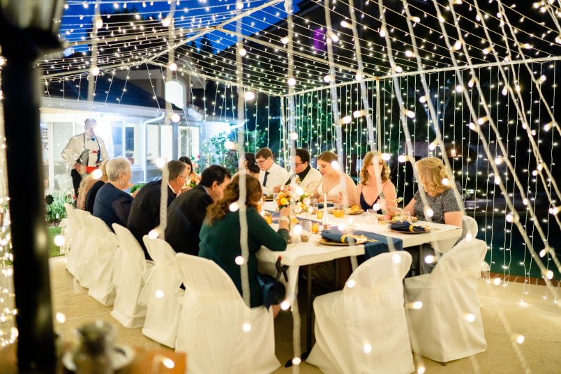 DIY wedding reception backyard
