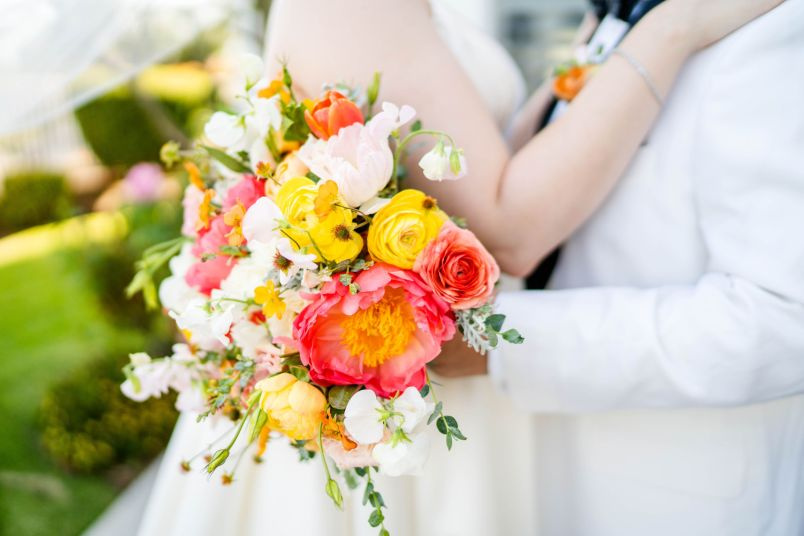 colorful wedding bouquet san dimas