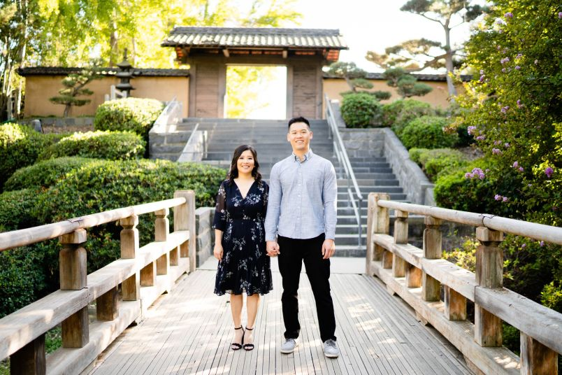huntington library engagement photos