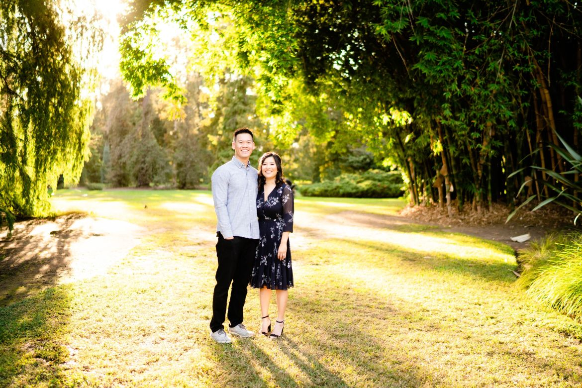 huntington library wedding photo engagement