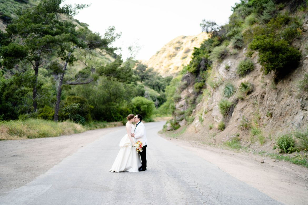 san dimas canyon wedding photo