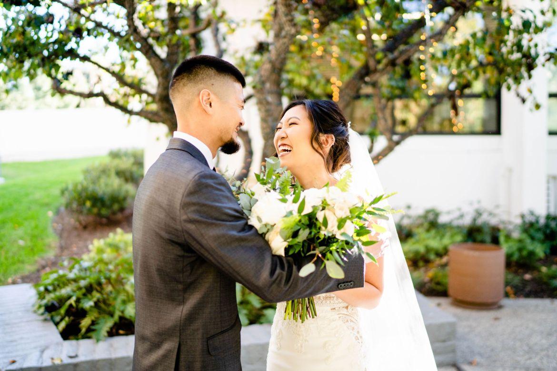 First Look wedgewood wedding