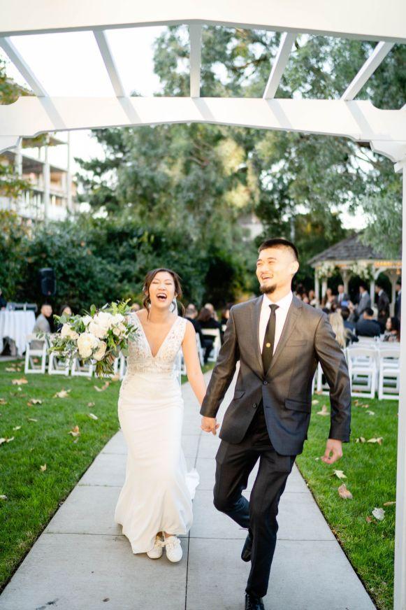 UCI alumni wedding exit