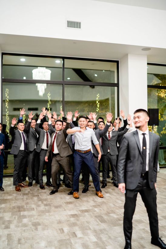 gater toss wedding photo