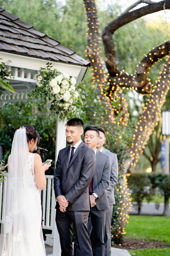 groom crying wedding