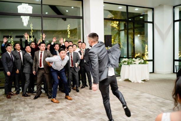 planned wedding garter toss