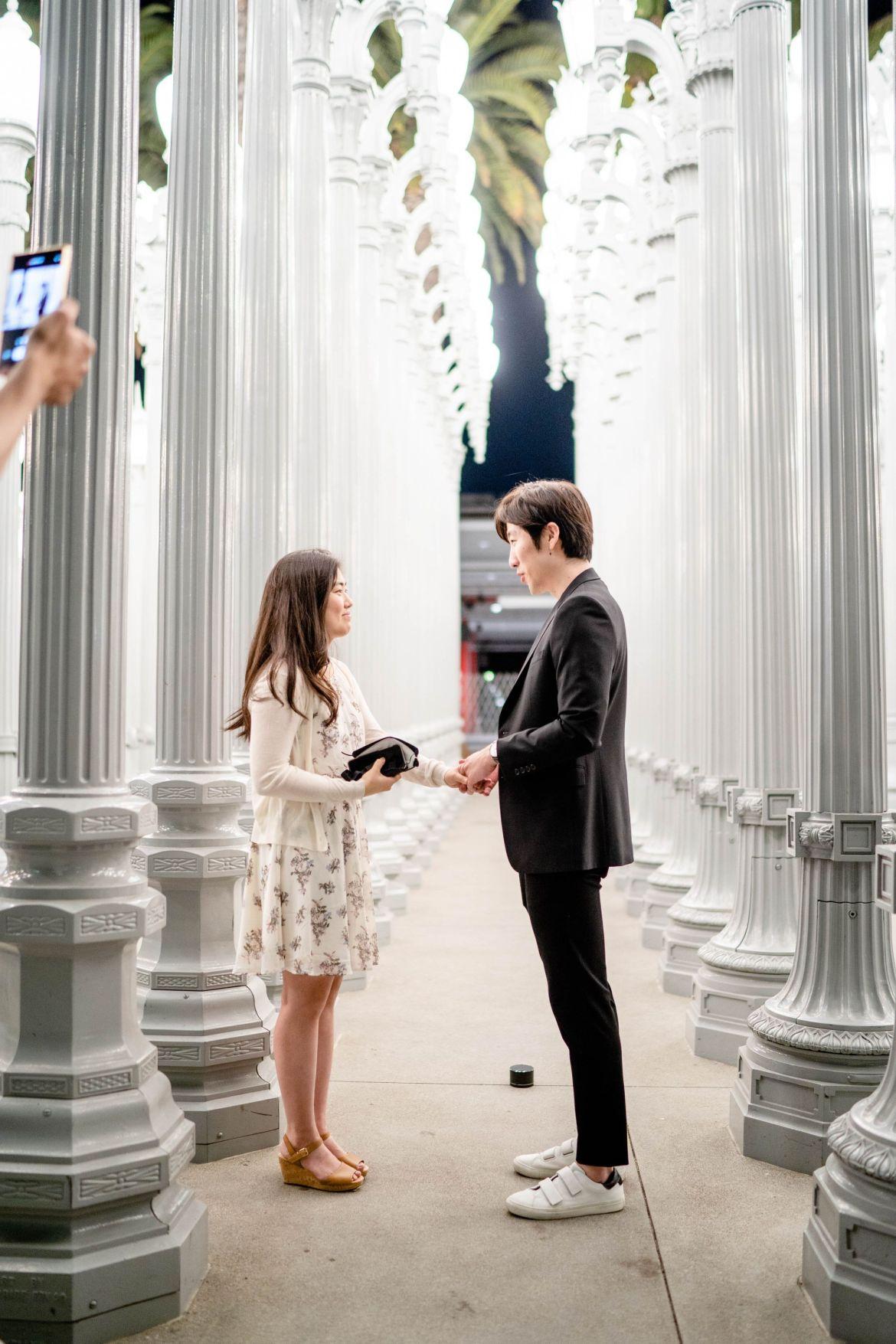 proposal photographer lacma