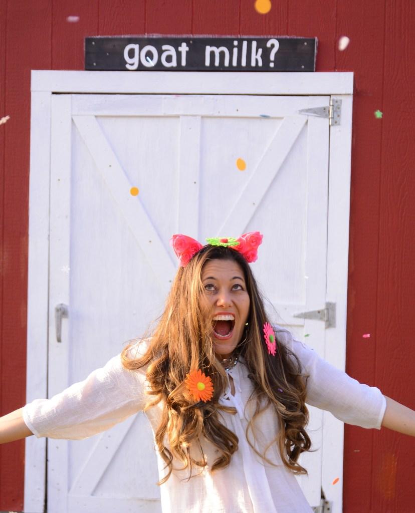 Akiko confetti and goat milk?