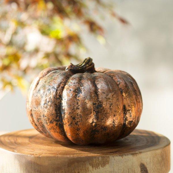 Short Pumpkin Sculpture