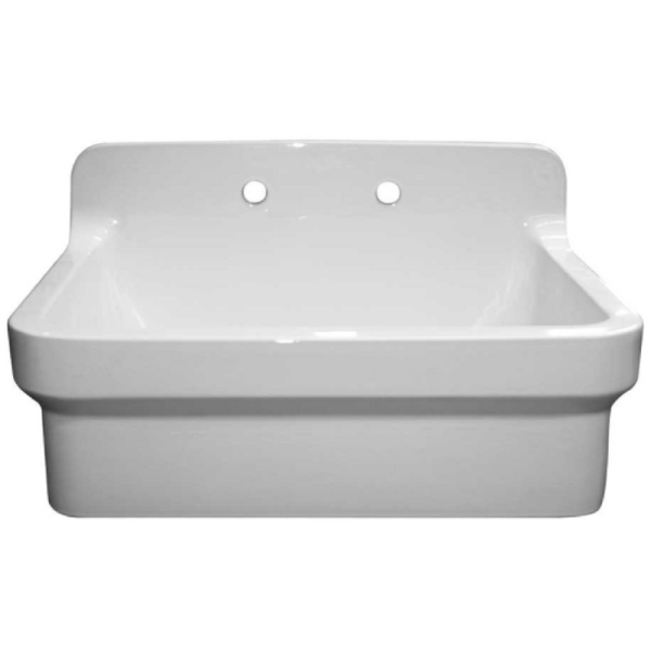 Whitehaus OFCH2230-WHITE Old Fashioned Country Fireclay