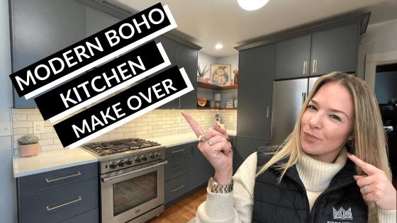 Modern Boho Kitchen Makeover - Front Page