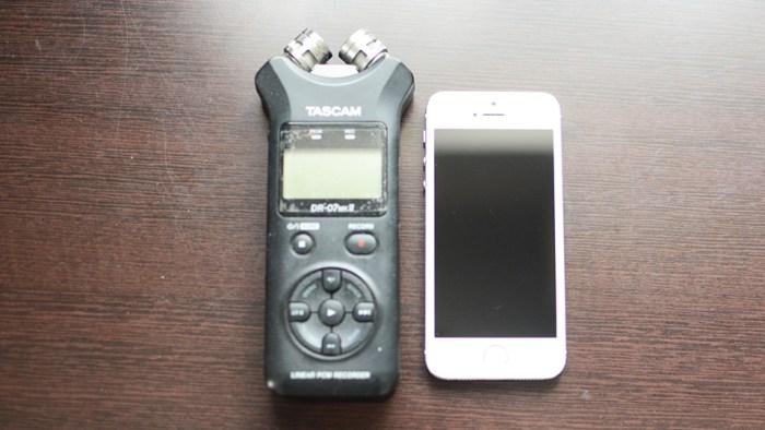 TASCAMとiPhone