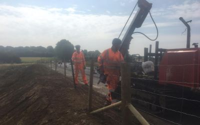 Akita Fencing installs fencing at an M20 site