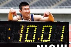 100m日本歴代2位の記録
