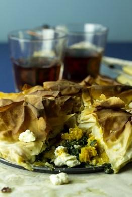 Spinach Butternut Feta Pie 2