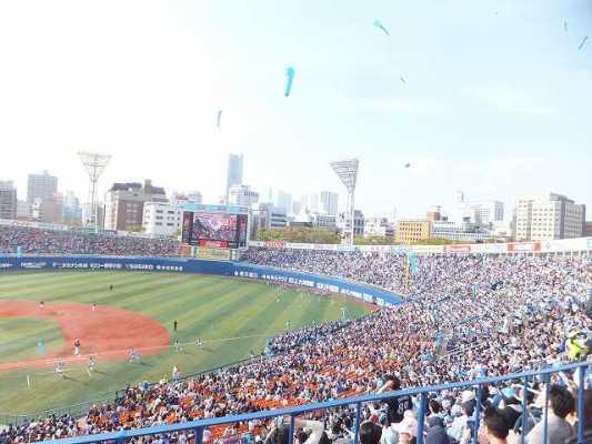 横浜スタジアム 7回ジェット風船を飛ばしたところ