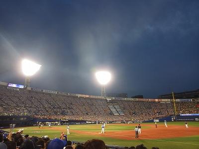横浜スタジアム野球観戦