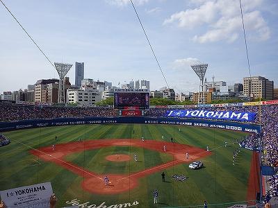 横浜スタジアム:バックネット裏からの景色