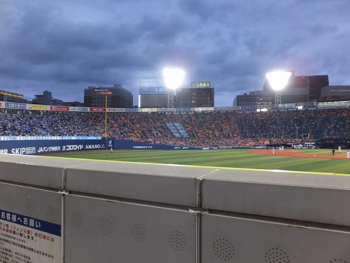 横浜スタジアム外野訳あり席からの眺め