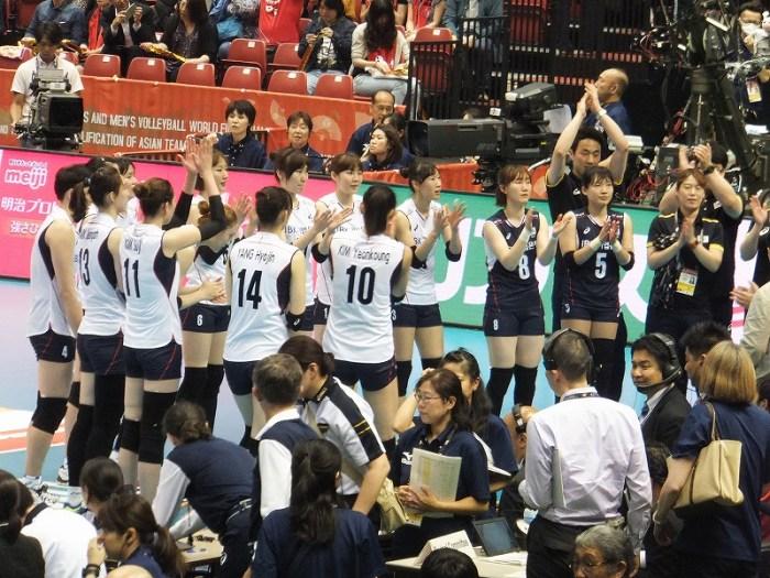 女子バレー韓国代表チーム:リオデジャネイロオリンピック最終予選