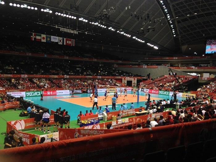 東京体育館:スタンド指定席から日本女子バレー代表を応援!
